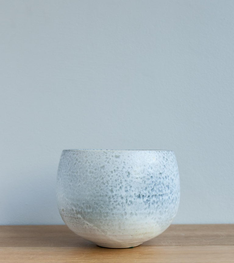 Aage & Kasper Würtz One Off Small Vase Stone Blue Glaze #2 In Excellent Condition For Sale In London, GB