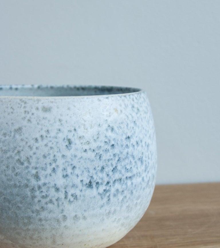 Contemporary Aage & Kasper Würtz One Off Small Vase Stone Blue Glaze #2 For Sale