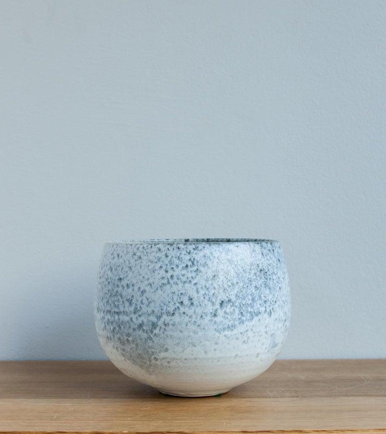 Stoneware Aage & Kasper Würtz One Off Small Vase Stone Blue Glaze #2 For Sale