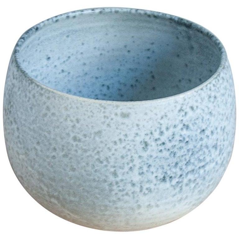 Aage & Kasper Würtz One Off Small Vase Stone Blue Glaze #2 For Sale