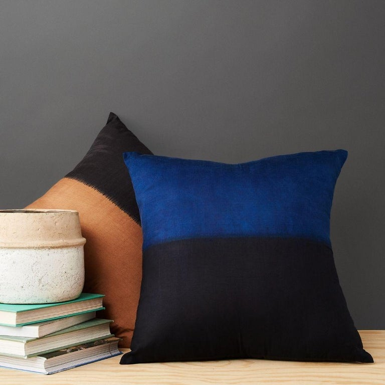 Custom design by Studio Variously, AAKAR MOR pillow is handmade by master artisans in India. A sustainable design brand based out of Michigan, Studio Variously exclusively collaborates with artisan communities to restore and revive ancient
