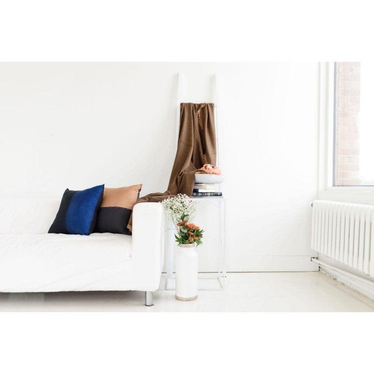 AAKAR MOR Color Block Silk Pillow in Indigo Black  For Sale 2