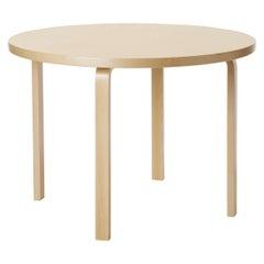 Aalto Table Round 90A in Birch by Alvar Aalto & Artek