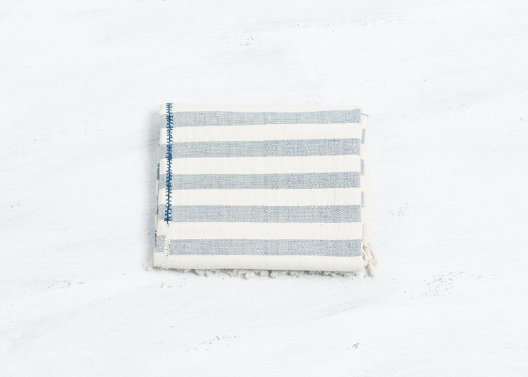 Custom design by Studio Variously, Aari Throw / blanket is handwoven by heritage weaver community in India and dyed entirely with earth-friendly dyes developed locally to artisan cluster.