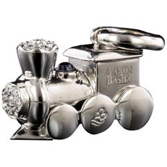 Aaron Basha 18 Karat White Gold Diamond Choo Choo Train