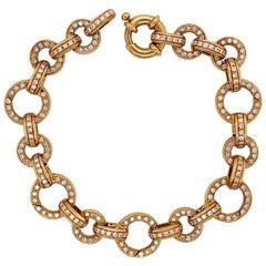 Aaron Basha Diamond Gold Charm Bracelet