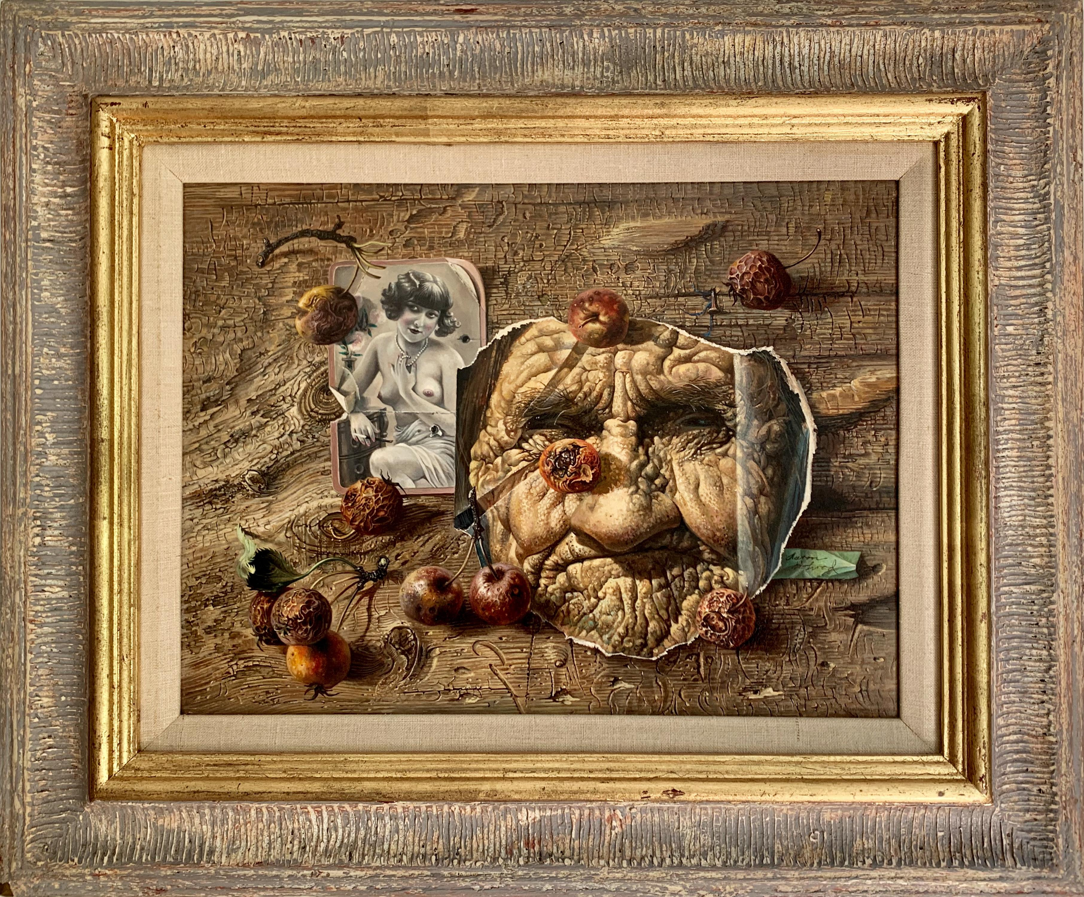 "Aaron Bohrod ""Daughters of Eve"", original oil on gesso"