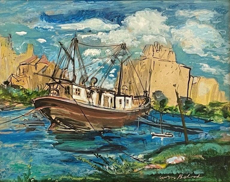 """Belmont Harbor, Chicago,"" Aaron Bohrod, Midwest Regionalism, Social Realism - Painting by Aaron Bohrod"