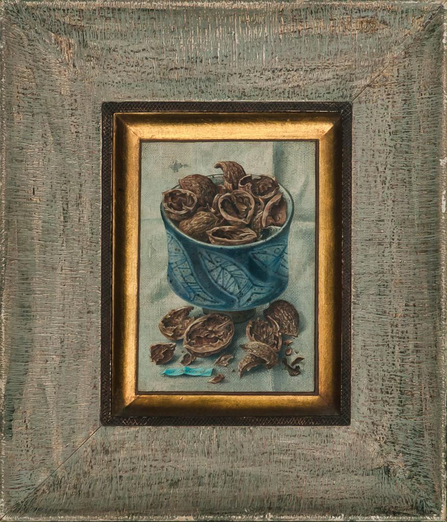 """Walnut Shells"" Acrylic Trompe-L'Oeil by Aaron Bohrod"