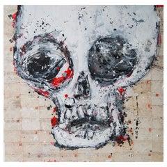 Aaron Bueso Skull Love Lettering Painting Artwork, Spain, 2018