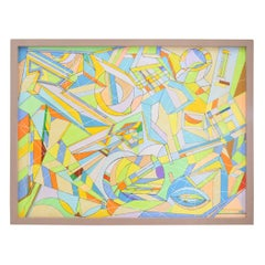Aaron Marcus, Abstract Geometric Oil on Canvas, Dated 2010