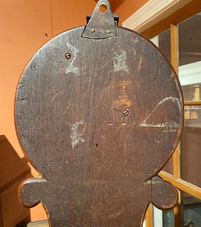 Aaron Willard Lyre Clock in Mahogany Case w/ Battling Tall Ships Eglomise Panel 11