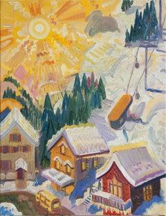 Sun Over the Ski Village