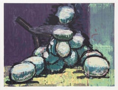 Green Grapes, Woodcut by Aaron Fink