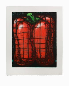 """""""Red Pepper"""", Still-Life Aquatint Etching Lithograph, Signed & Numbered"""