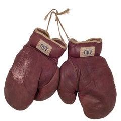 A.A.U. Leather Boxing Gloves, circa 1930