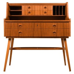 AB Broderna Gustafssons Scandinavian Mid Century Vintage Secretary Desk