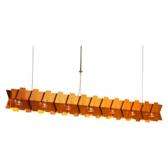 Abacus Linear Chandelier in Bronze Anodized Aluminum by David D'Imperio