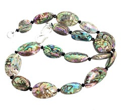 Gemjunky Downtown Collection Peacock Abalone & Black Spinel Handmade Necklace