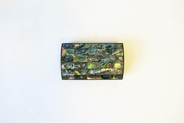 Organic Modern Abalone Sea Shell Jewelry Box For Sale