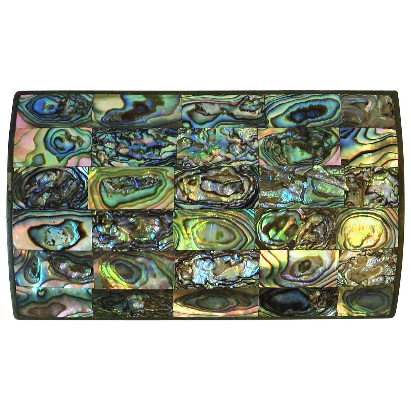 Abalone Seashell Jewelry or Decorative Box