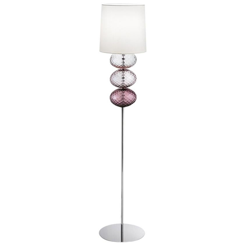 Abat Jour Floor Lamp in Violet, Amethyst and Wisteria by Venini