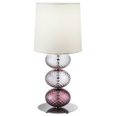 Abat Jour Table Lamp in Violet, Amethyst and Wisteria by Venini