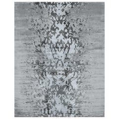 Hand Knotted silk rug - Abaya Stamp Rock, Edition Bougainville