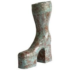 """""""Abba"""" Boot Sculpture Made by Swedish Artist Gertrud Alfredsson"""