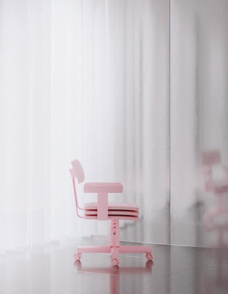Abba Studio Office Pink Dreamy Chair by Reisinger Andres In New Condition For Sale In Barcelona, ES