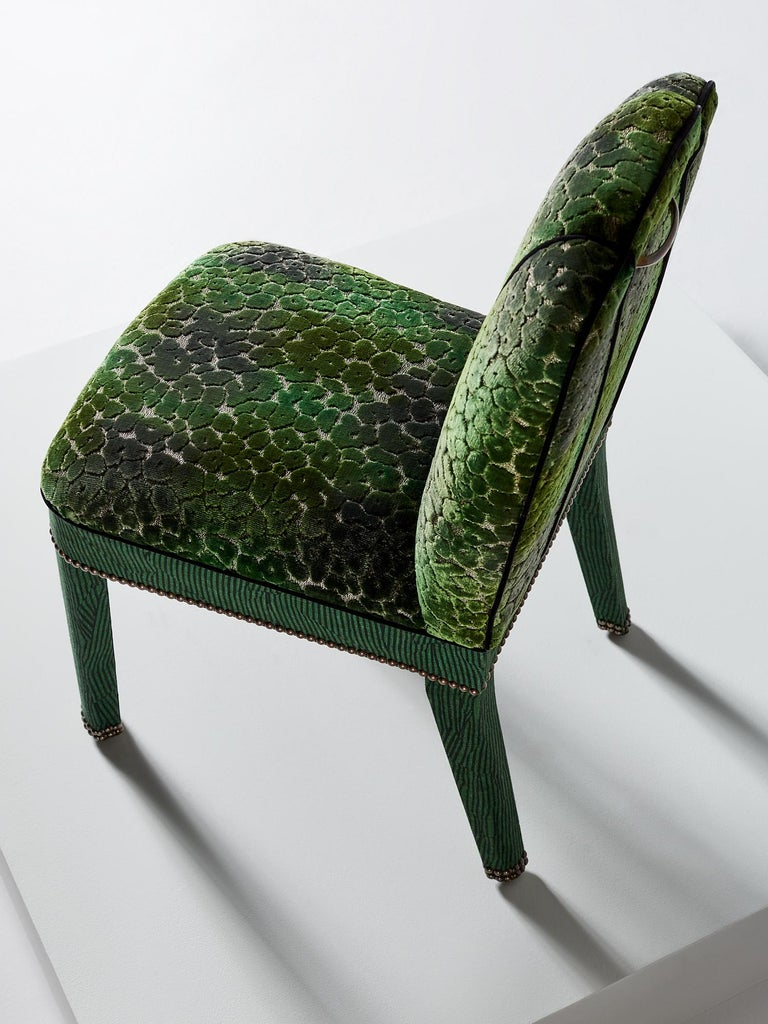 Abbas Dining Chair In Avant Emerald For Sale At 1stdibs