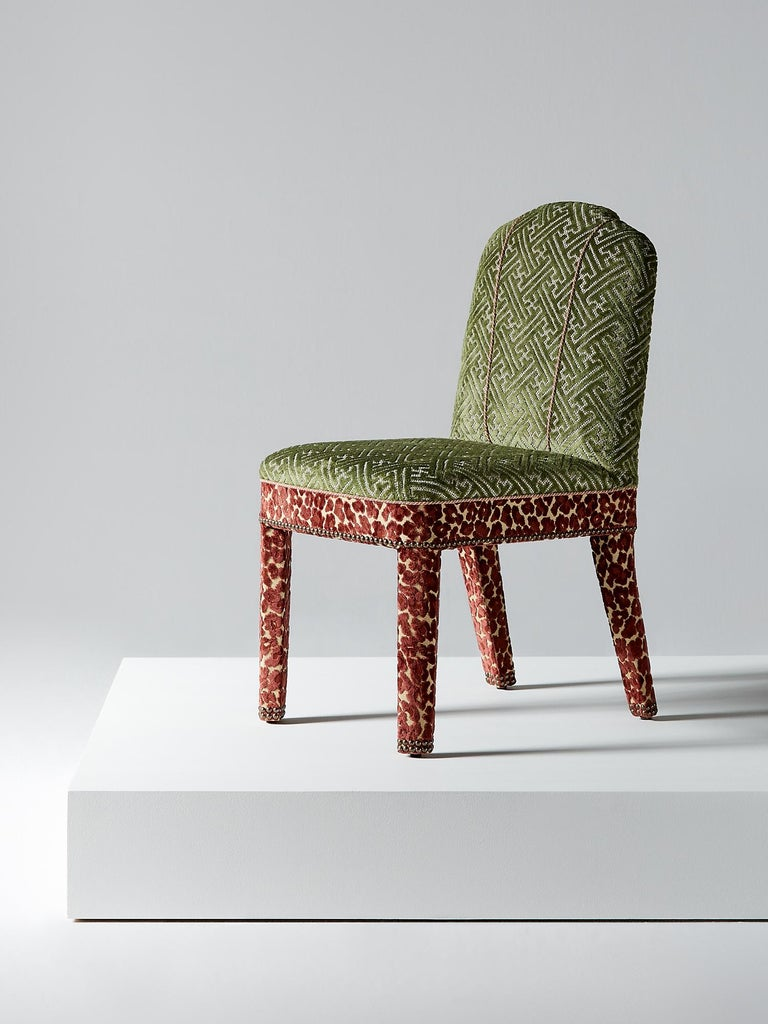 And Objects, product design studio founded by Martin Brudnizki and Nick Jeanes based in London.  A contemporary twist on the Classic upholstered dining chair, the Abbas dining chair perfectly supports its sitter's back whilst remaining stylish.