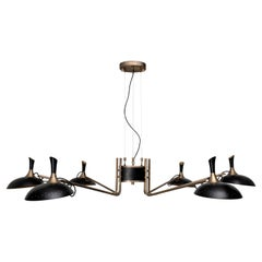 Abbey Pendant Light in Black and Brass