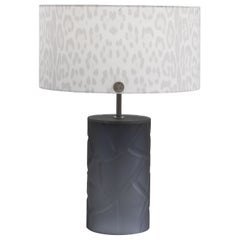 Abbey Table Lamp Murano Glass with Ivory Animalier Lampshade by Roberto Cavalli