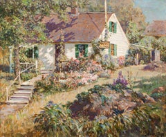 The Cottage Garden by Abbott Fuller Graves (1859-1936, American)