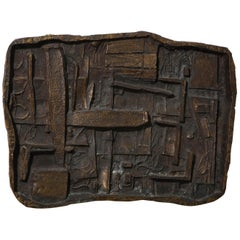 Abbott Pattison Abstract Bronze Wall Sculpture