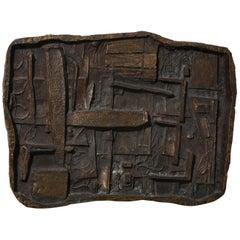 Abbott Pattison Abstract Bronze Wall Sculpture