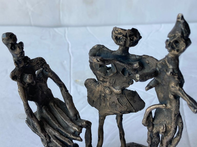 This is one of the great and traditional sculptures by the very well known Chicago artist Abbott Pattison. This particular sculpture is one of he made in Italy, is also signed and marked Firenze 61.
