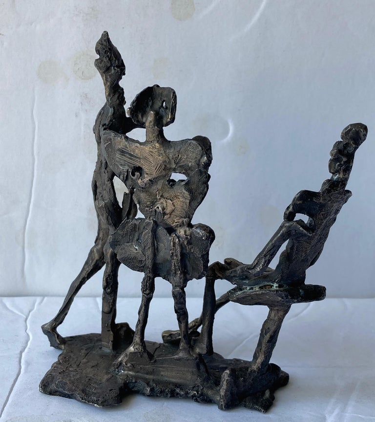 Italian Abbott Pattison Abstract,Bronze Sculpture of Three People Elements, Signed For Sale