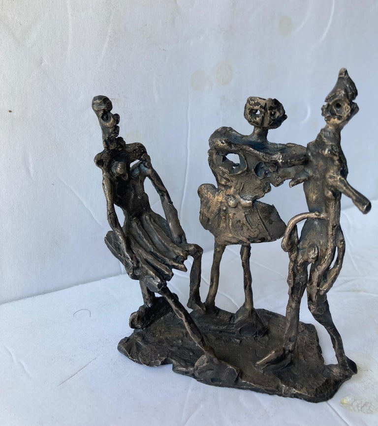Hand-Crafted Abbott Pattison Abstract,Bronze Sculpture of Three People Elements, Signed For Sale