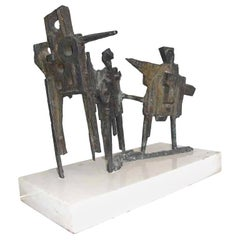 Abbott Pattison Bronze Sculpture on Marble Base 'Signed'