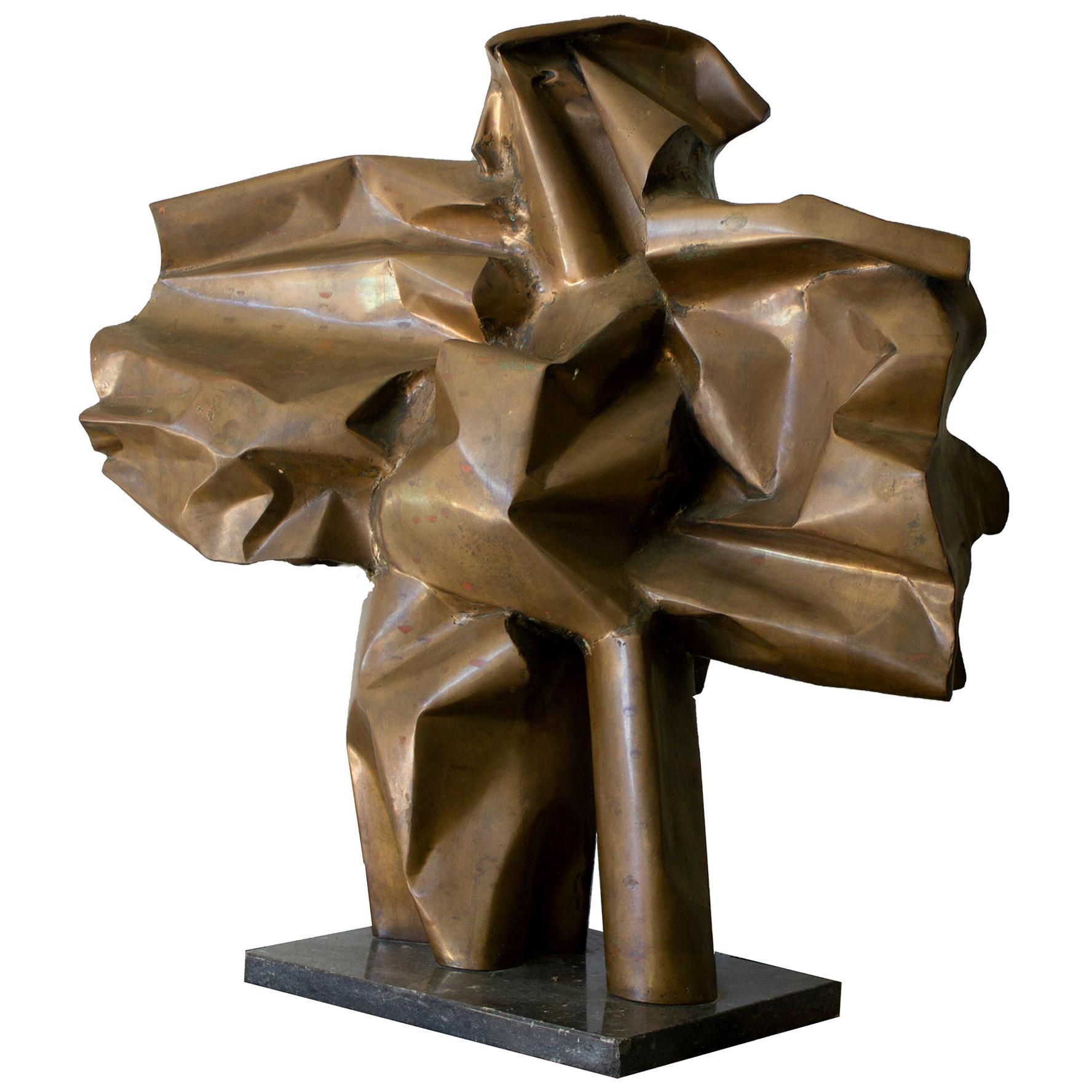 Abbott Pattison Sculpture Abstract Bronze Titled 'Flight' 1977, Large Scale