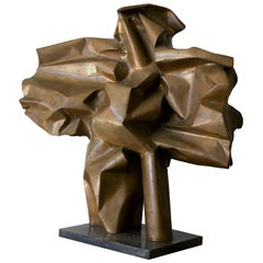 Abbott Pattison Sculpture Abstract Bronze Titled 'Flight' 1977, Large Scale
