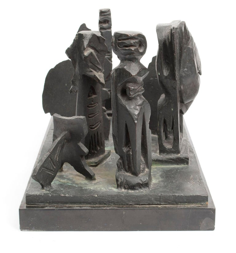 Brutalist Modern Abstract Bronze Sculpture Metropolis Manner of Louise Nevelson For Sale 2