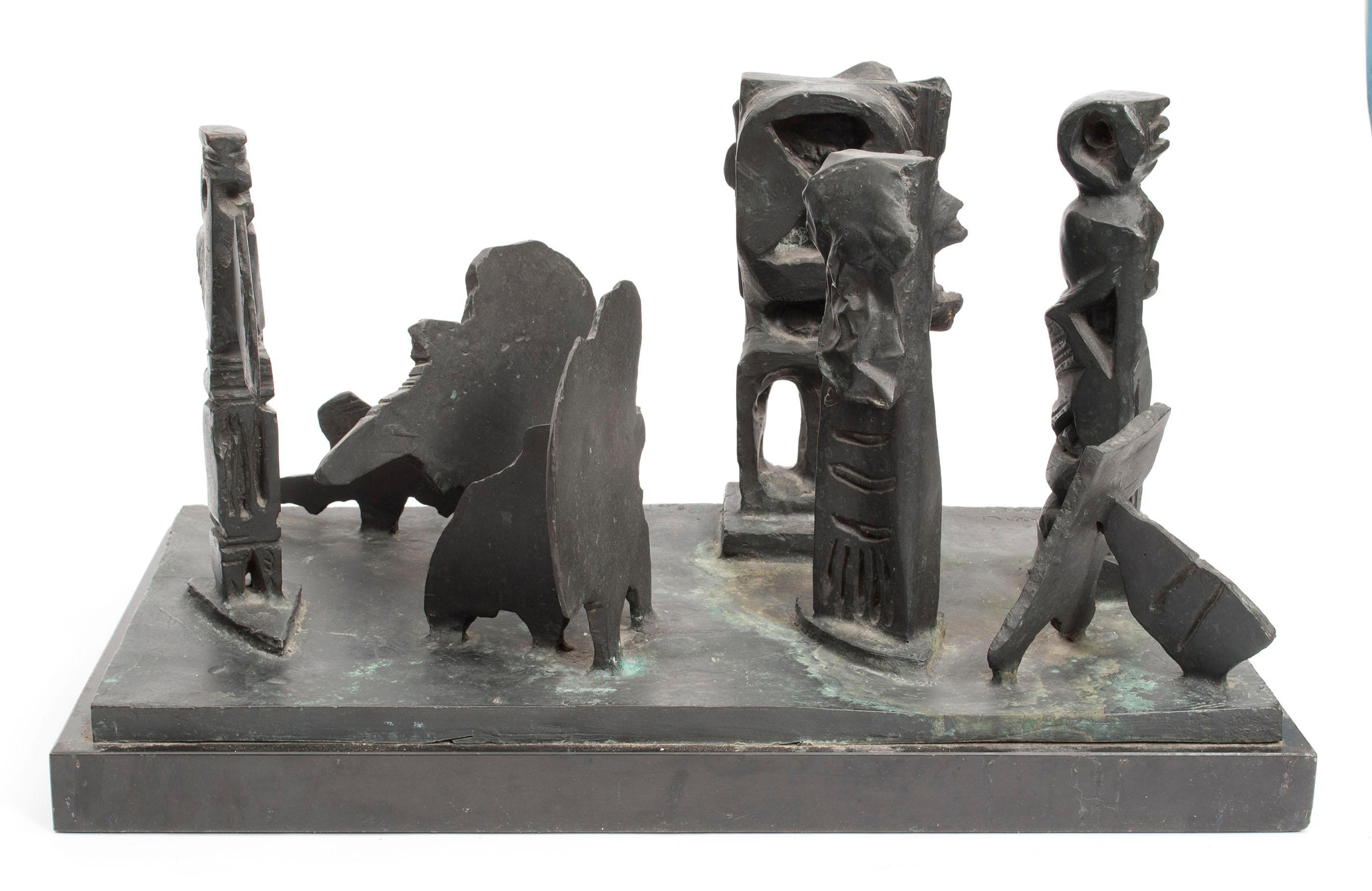 Brutalist Modern Abstract Bronze Sculpture Metropolis Manner of Louise Nevelson