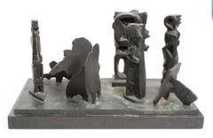 Brutalist Modern Abstract Bronze Sculpture Metropolis Manner of Louise Nevelson