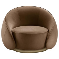 Abbracci Brown Armchair
