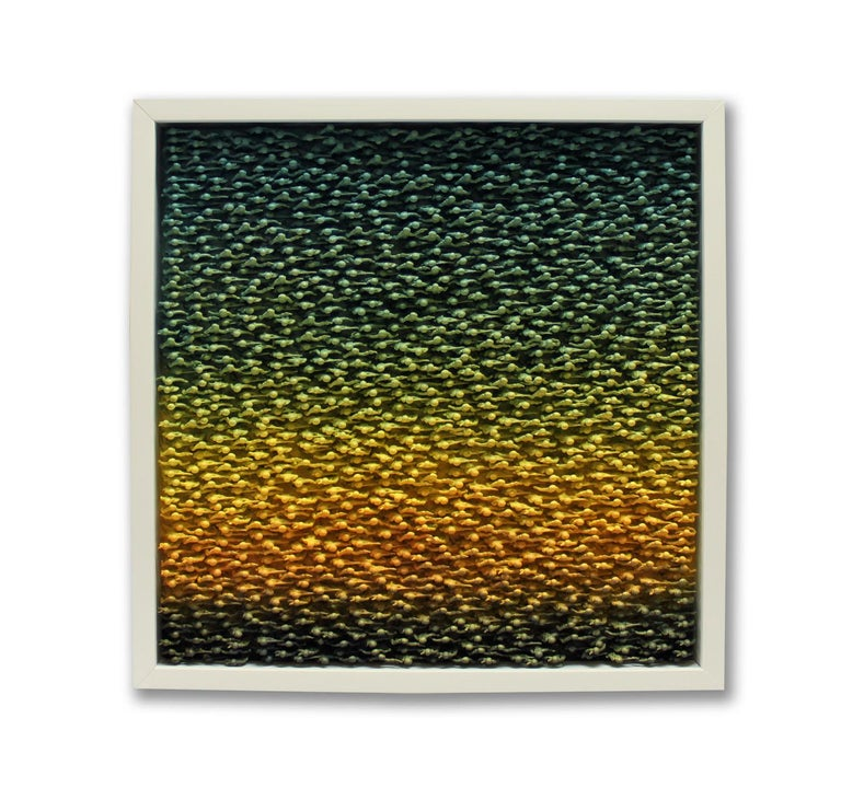 """Abby Elizabeth Abstract Painting - """"Vintage Teal"""""""