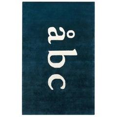 ÅBC Kids Rug, Teal, Modern Cut Pile Rug in Scandinavian Design