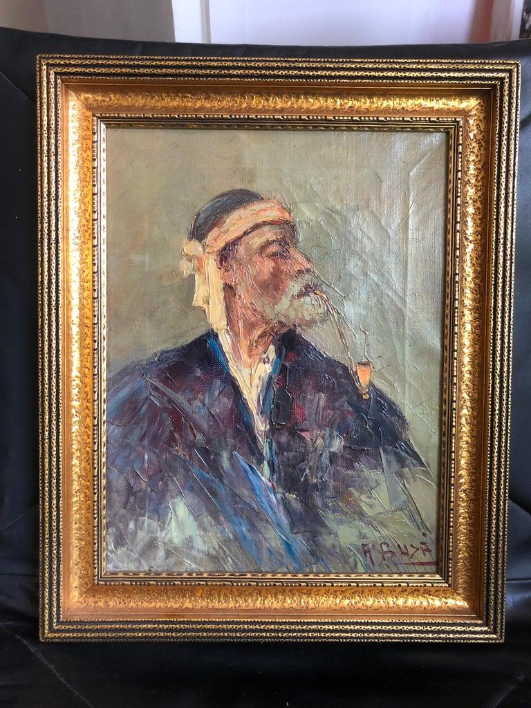 Abdurrahim Buza (Albanian, 1905–1987), c. 1940s, The Old Albanian, signed